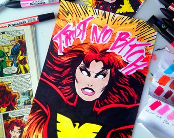Trust no bitch N9 - Jean Grey as Dark Phoenix © Iván García  (Limited edition prints, signed and numbered)