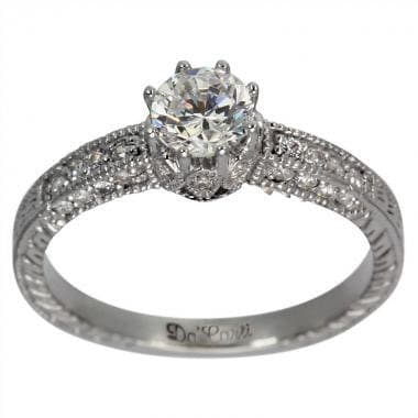 deco engagement ring 1 2 ct basket setting