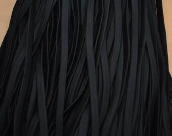 30ft black Elastic Cord black Rubber Bands rope, black elastic rope cord, 0.4 inch width