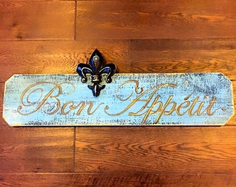 Hand Painted Rustic French Sign