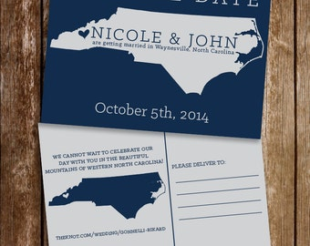 Save the Date State Postcard {deposit}