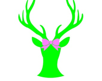 Deer With Pink Bow