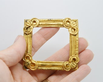 Dolls house miniature picture frame antique vintage gold