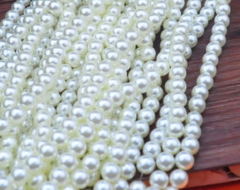 100pcs Wholesale Pearl Bead--Shiny Plastic Pearl,8mm Round Bead,Bead Supplies For Necklace