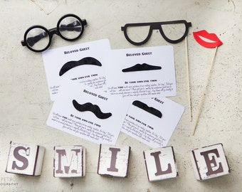 Vintage moustache wedding table game/fancy dress
