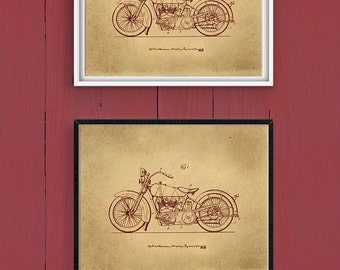 Downloadable Art, Home Decor, Vintage Motorcycle Printable, Motorcycle Art, Patent Art, Patent Printable, Vintage Motorcycle Art Print