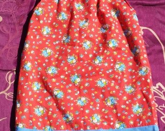 2T-3T Red Floral Pillowcase Dress