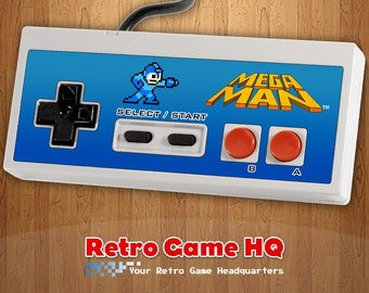 NES - Mega Man - Controller Overlay (Controller Not Included)
