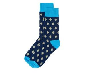 Mens Sock Mens Dress Socks Groomsmen Socks Colorful Socks Funny Socks Novelty Socks by Mr.ZZ (Diamonds)