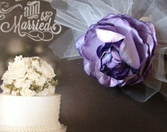 Wedding Bridal Bride Purple Rose Flower Bouquet
