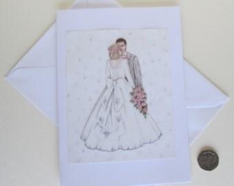 Wedding Card, Couple Wedding Card, Perfect Day Card, Wedding Couple Card