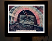 Nightlight Radio City Music Hall New York City Art Deco Postcard Colorful Bedroom Bathroom Bridal Gift idea