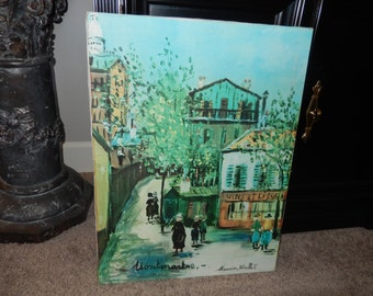 MAURICE UTRILLO PRINT on Canvas Wall Hanging
