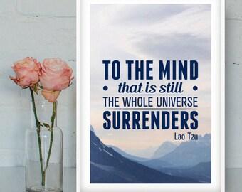 Lao Tzu printable poster, Zen quotes, Education posters, Zen printable art, Lao Tzu quote, Zen posters, Spiritual art, INSTANT DOWNLOAD
