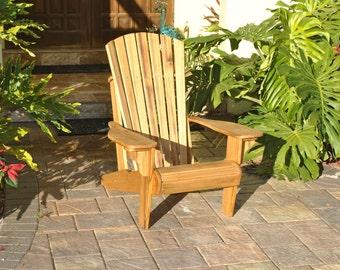 Cypress Adirondack Chair made 100% from Florida Cypress.