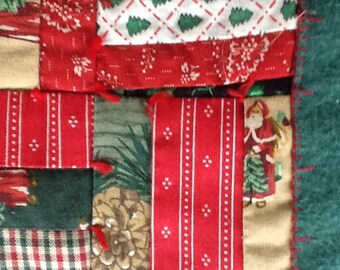 Merry Christmas Santa quilted wall hanging