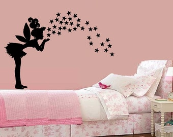 Fairy with Stars #1 - Wall Decal