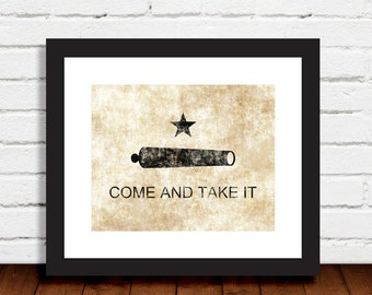 State of Texas Print Come and Take It