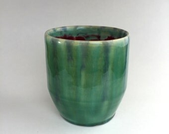 Green/Blue Ceramic Cup