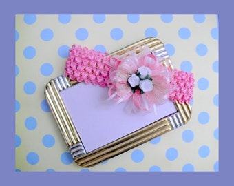 Pretty Pink Soft Stretch Baby Headband