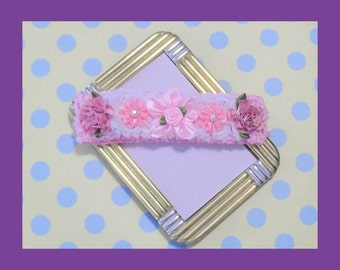 Pink and Rose Infant Stretch Headband