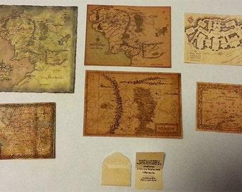 Lord of the ring Bilbo Baggins birthday invitation, Maps the Hobbit 1/6 Diorama Accessories Custom LOTR