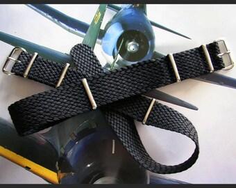 NATO G10 ® Braided Woven Military Ballistic Nylon Smart watch band Pilot strap IW Suisse
