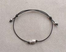 Tiny Fish Bracelet, Beach Bracelet,Summer Fashion Bracelet,Fish Charm Bracelet, Silver Bracelet.