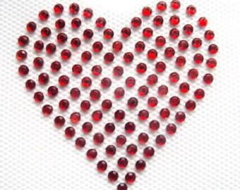 SMALL HEARTS x 2 Iron On / Hot Fix Rhinestone, Diamante, Transfer, Motif, Bling