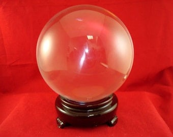 Large Crystal Ball, 80mm Gazing Sphere, Scrying Divining Tool Wicca Magical