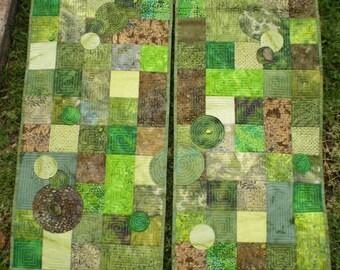 Sage (Diptych) Art Quilt