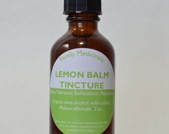 Lemon Balm Tincture 2 oz.