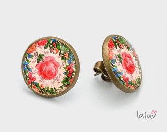 Stick earrings WILD ROSE