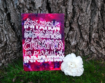 Thin 5x7 inch innovation quote canvas