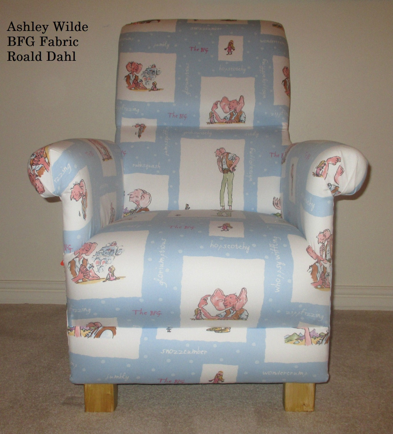 Shabby Chic Bedroom Chairs Ashley Wilde Roald Dahl Fabric Armchair Big Friendly Giant