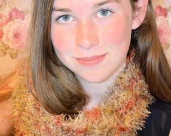 Brown Variegated Crochet Scarf