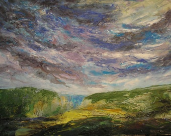 original acrylic landscape painting on canvas