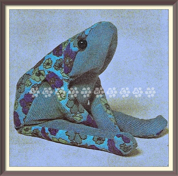 Vintage 60 S Chart Or Graph Sewing Pattern To Make A Frog