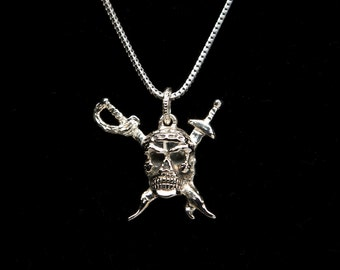 Pirate skull necklaces