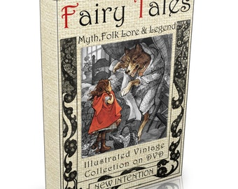 311  World Fairy Tales, Folk Lore & Myth Books on DVD Illustrated Legends Fables Grimm's