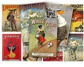 Vintage Bikes Bicycle Ads Advertising Digital Collage Sheet ATC ACEO Crafts, Digital Downloads