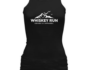 Women's Black Whiskey Run Racerback