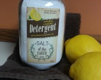 All Natural Lemon Laundry Soap