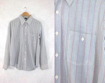 40%offAug15-17 mens striped shirt size xl. 70s dress shirt mens xl. colorful shirt. mens button down shirt. mens shirt xl 17 17.5