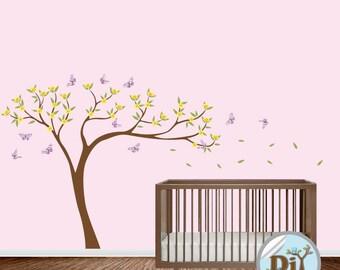 Baby Wall Decal - Nursery Vinyl Wall Decal - Kids Wall Sticker - Tree Decal - Nursery Decals - Children Tree Vinyl Decal -  424159