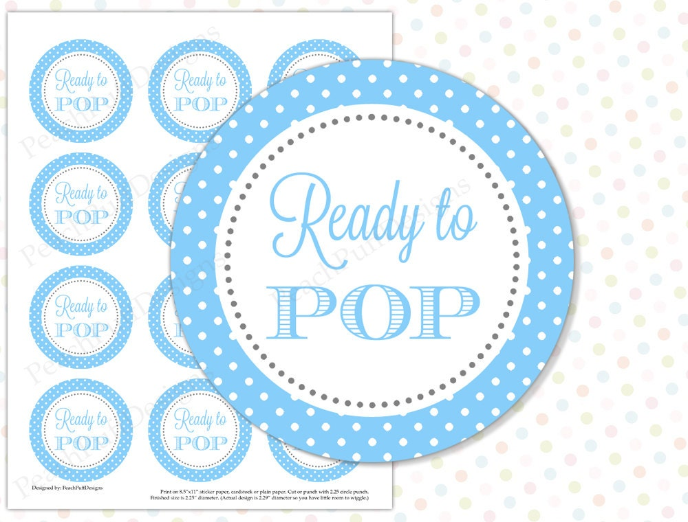 ready to pop sticker blue instant download ready to pop tags