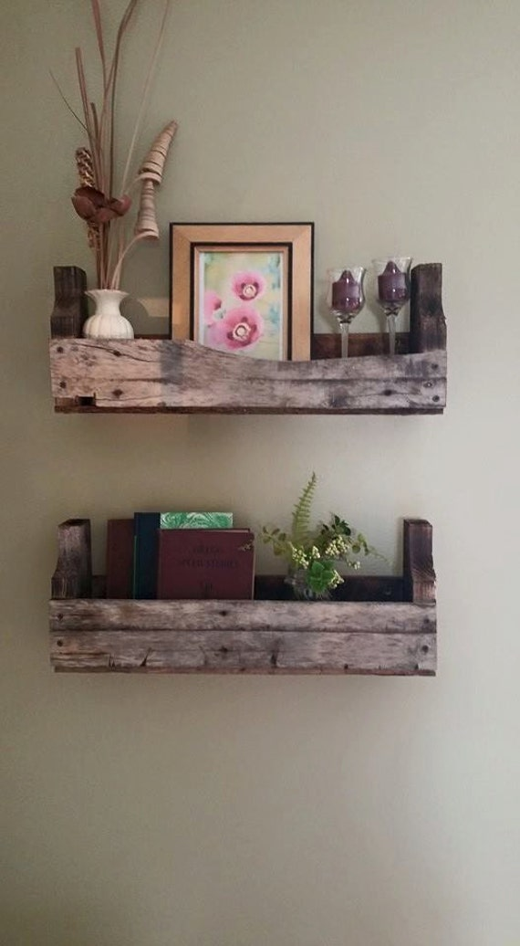 Reclaimed Wood Shelves , Etsy shop JPCreations