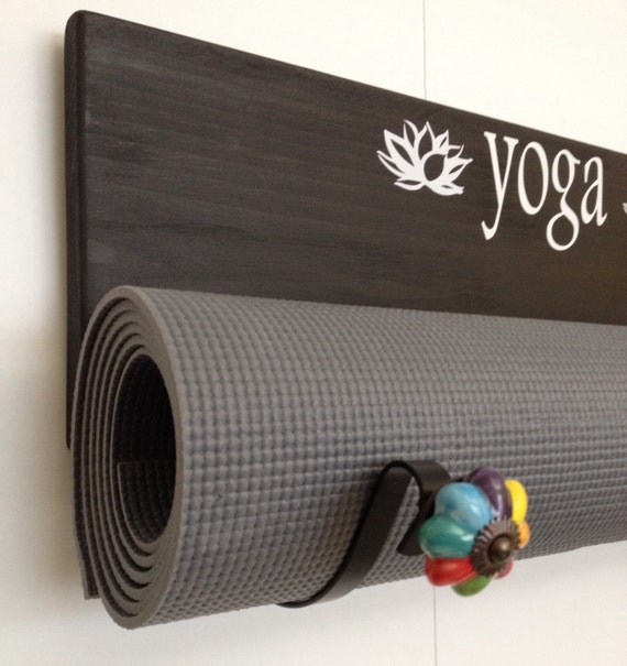 Handmade Yoga Mat Holder, Custom Yoga Mat Holder, Wall