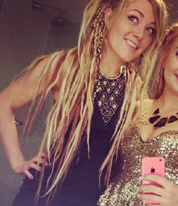 Thin Dreads On Women thin blonde copper sandy blonde dreads 40 dollars ...