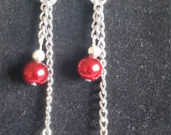 Red Pearl Dangles